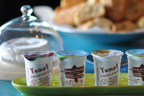Yaourts de Normandie : petit déjeuner de l'Hôtel Outre-Mer (Villa Le Couchant)