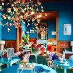 Le salon de thé de l'Hôtel Outre-Mer (Villa Le couchant).