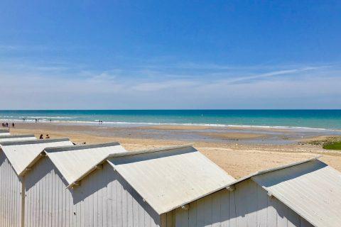 La plage de Villers sur Mer en Normandie